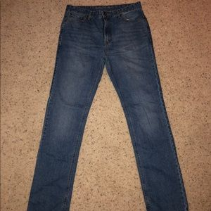 Men's light wash Ruff Hewn slim straight leg jeans